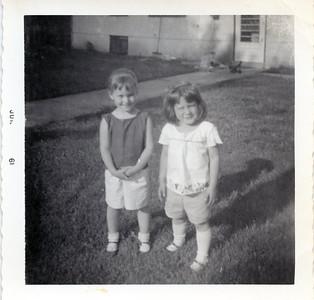 Debbie and Colleen June 1961