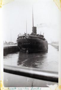 Boat in the locks Sept 1938