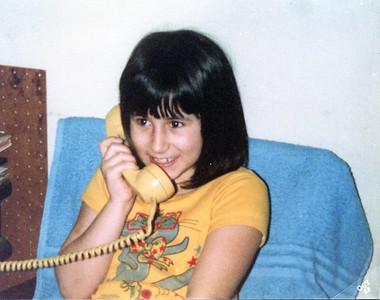 Chrystal on her cel phone