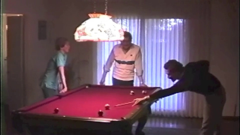 Christmas 1986 Pool Sharks featuring John, the two Mikes and Greta