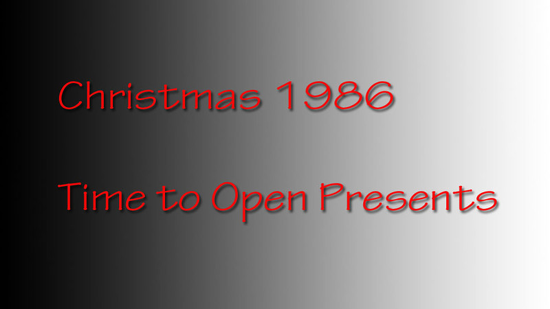 Christmas 1986 the first short video highlighting opening of presents with family. Coming more Christmas the pool tournament and the flying contest.
