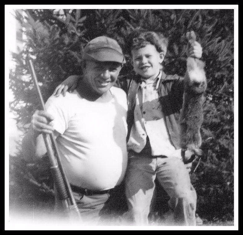 John's first rabbit. 1953.