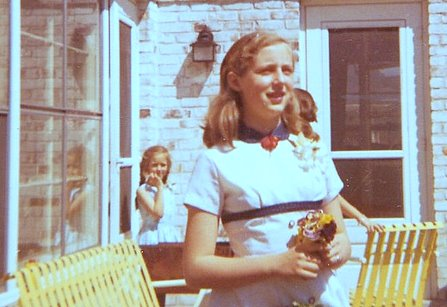 Pat and Nini in Grosse Pointe - Circa 1955