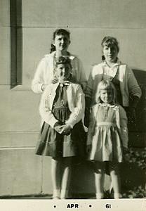 1961, Powell sisters: Carolyn, Rita, Rhonda, and Shelia