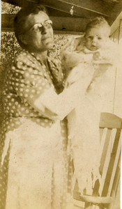 My grandmother, Sallie Bell, holding her daughter Frankie Lou.