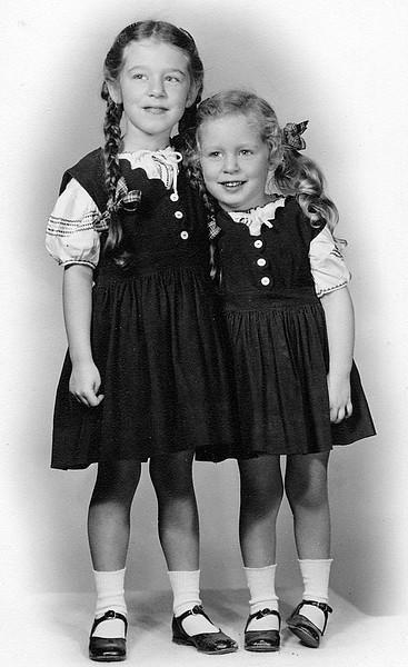 Penny and Pat - Circa 1950