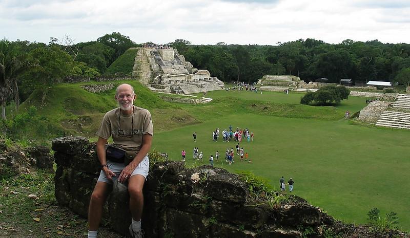 John at Altun Ha ruins in Belize