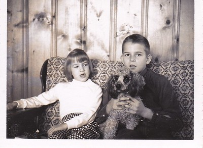 Anita and Adrian, Jr with Suzette, the doggie.