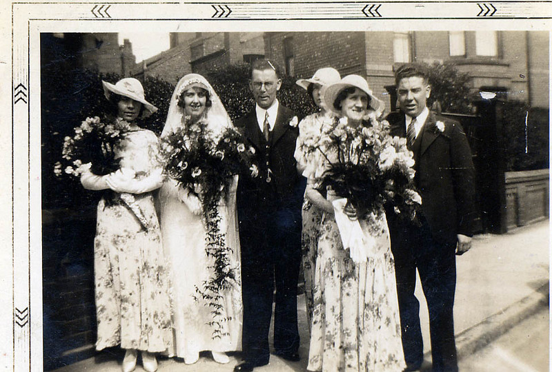 George Parsons - Hilda Bethell- Wedding-Qwendoline Parsons-couple-Patricia Parsons-Katherine Maloney- John Parsons