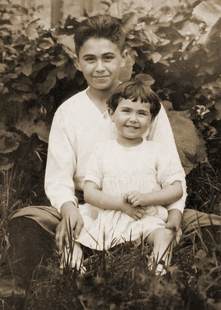 Max Pushinsky (Persch) and his sister, Dottie.