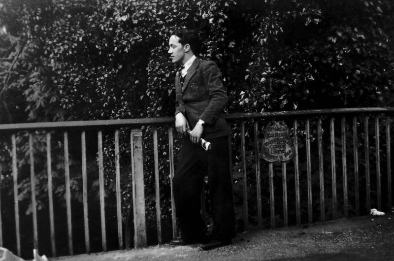 Peter Kavanagh Whitsun 1940 (sign on Bridge looks like Tonbridge Water Works Co Ltd)