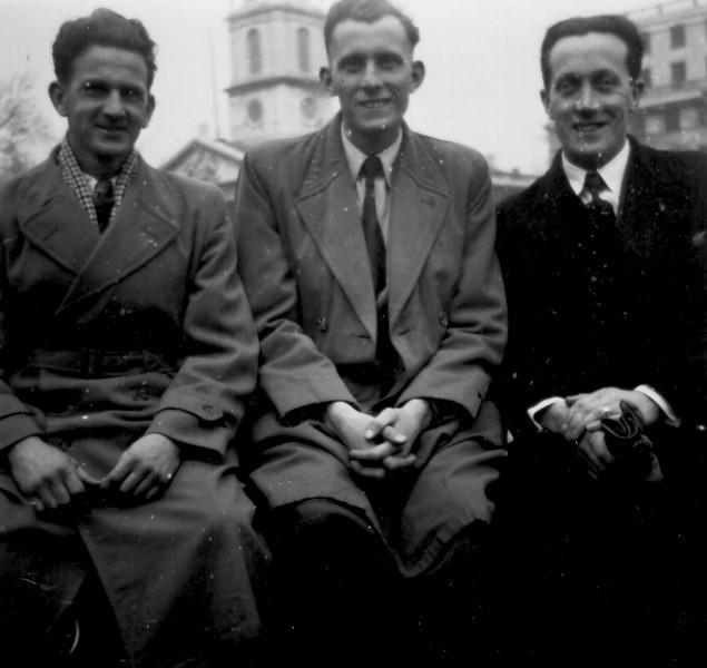 Peter Kavanagh, far right