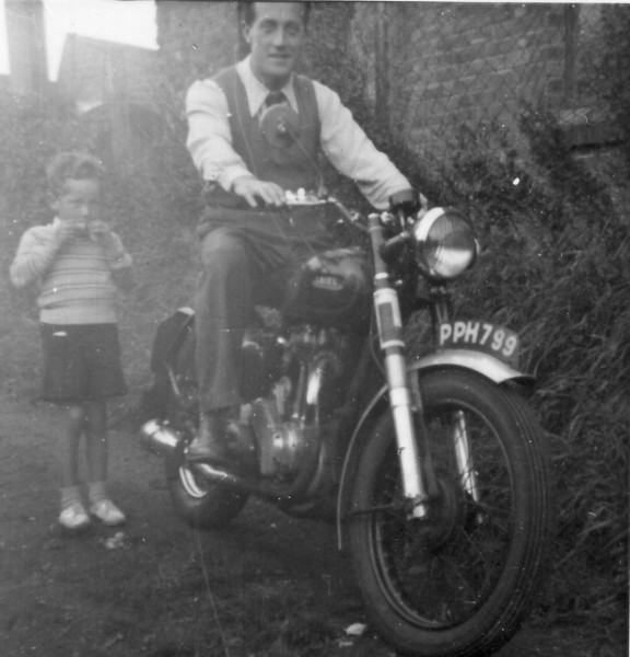 Peter Kavanagh, but who's motorbike?