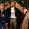 Randy, Arnold Schwarzenegger (in wax), and mother.