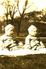 Vinny & Gerry on Boston Common - spring 1944