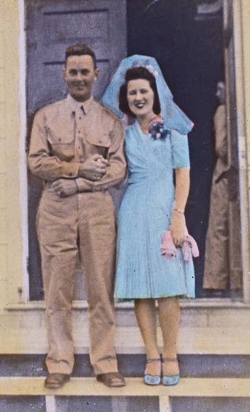 Mom & Dad on their wedding day, May 2, 1942.