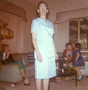 Old Nicol Photos 4031 - March 1965 Mary BDay Dress
