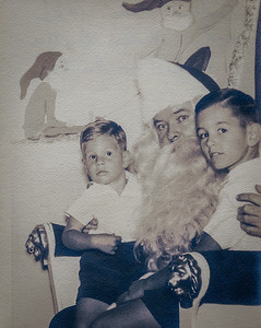 Rick Dallas, Santa, Jack Dallas.  Burdines's Santa at store on Flagler Street and Miami Avenue downtown Miami.