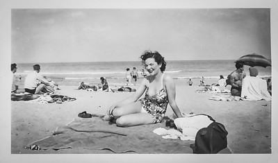 Grace Dallas (mom) at Haulover Beach in Miami, Florida