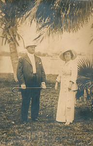 John Dallas (grandfather) and Katheryn Dallas on Miami Beach.  Picture probably taken in the early 1920's.