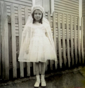 Early 1950s-d, Frances Ann Scoglio, First Communion.