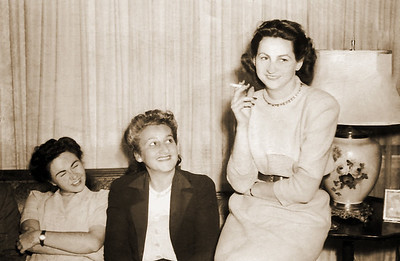 Dottie, Martha and Myrell. After Martha's divorce from Barney.