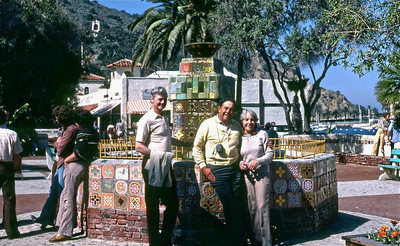 Uncle Ken, Dad, Aunt Marie at ___ Olvera Street?  Catalina Island??