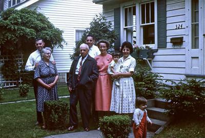 Uncle Bill, Grandma Smith, Grandpa Smith, Dad, Mom, Aunt Delores, and cousins