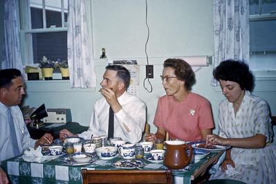 Dad, Uncle Bill, Mom, Aunt Delores Grandma Smith's Kitchen