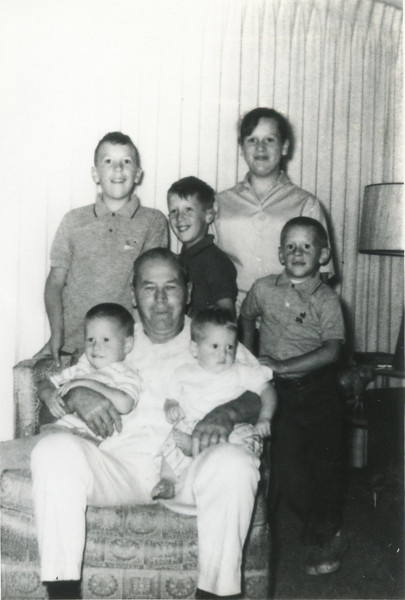 George VanHorn, Terry, Ron, Tom, Larry,  Jeff, and Kathy, 1964,