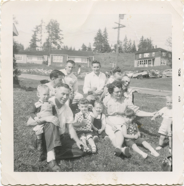 George and Hazel Devitt and family with Terry and young George. 1955. Poulsbo Projecks.
