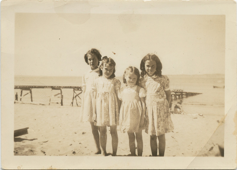 Merideth, Loralie, Joyce and Beverly at Point no Point 1941.