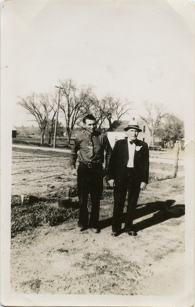George VanHorn, Pete Fragner, North Dakota, aprox 1936,