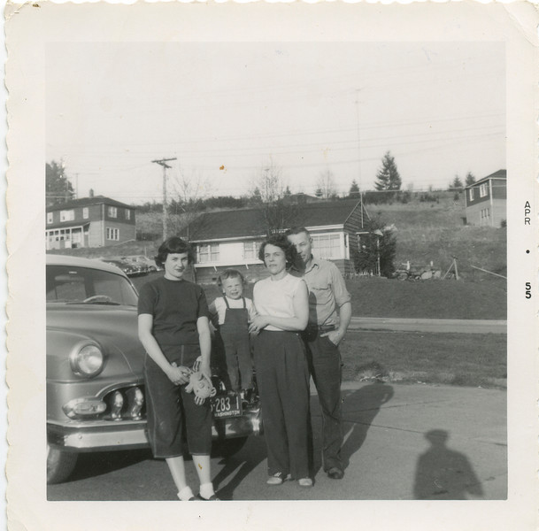 Wilma, George, Loralie, and Jan in 1955