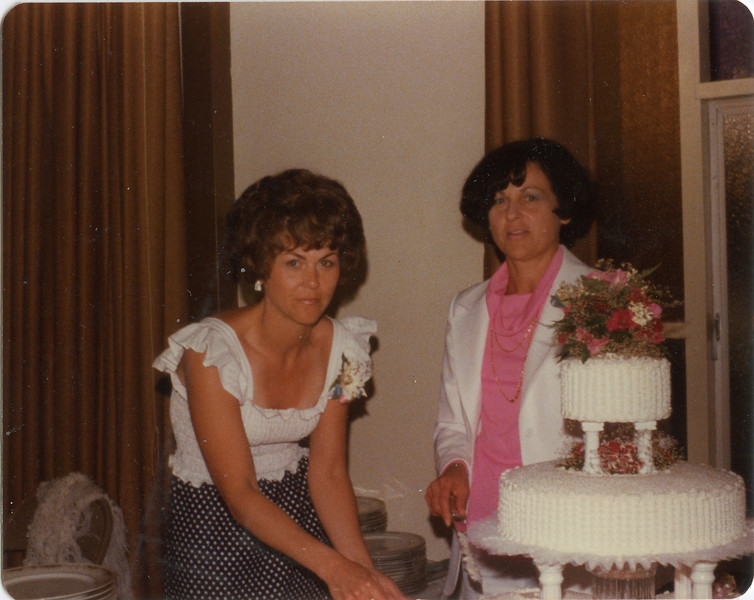 Cheryl and Loralie, July 9, 1977,