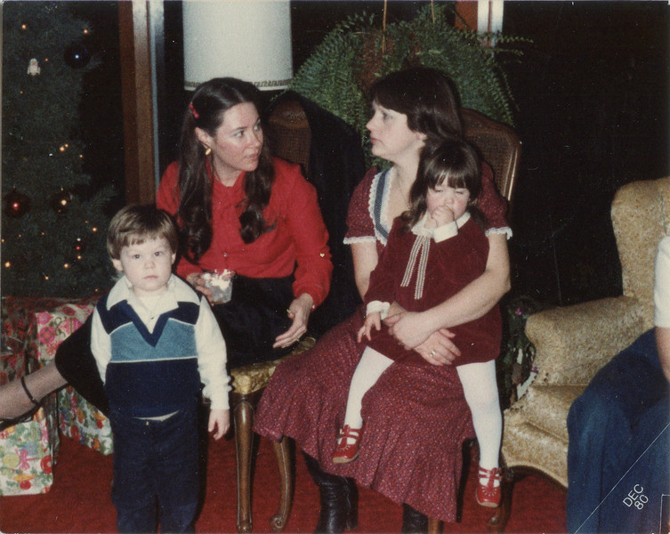 Christmas of 1980, Debbie and Chris, Terry and Jenny,