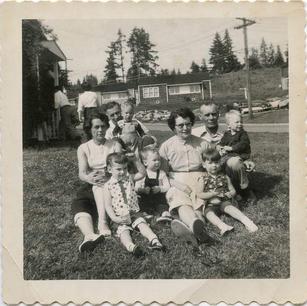 George, Wilma, Hazel, Neal, with Kids, Poulsbo Projecks 950's.