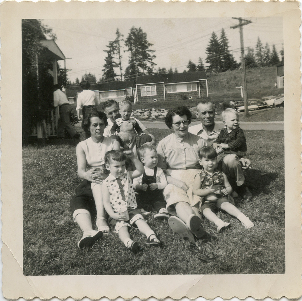 George, Wilma, Hazel, Neal, with Kids, Poulsbo Projecks 950's.