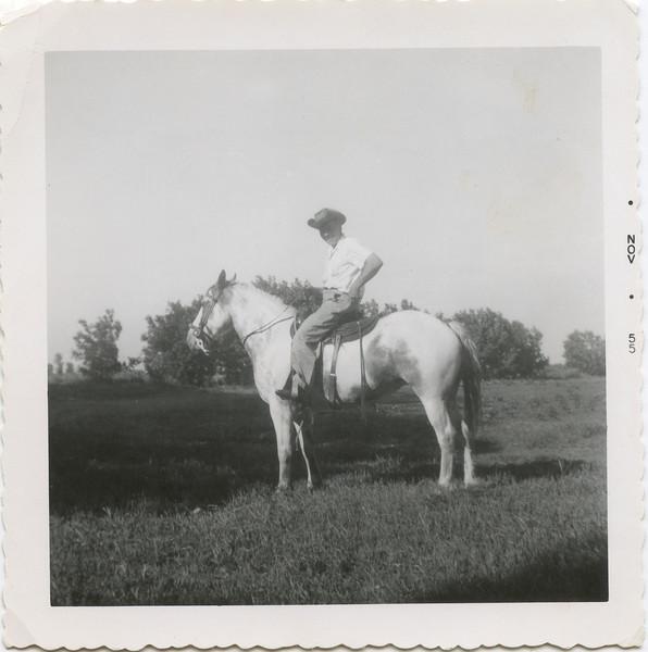 George on horse 1955.