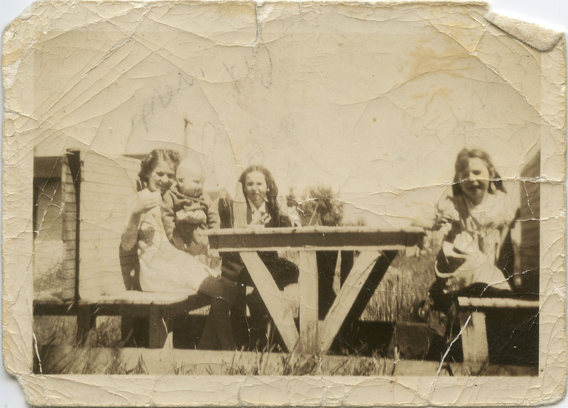 Merideth and Loralie and two others in 1941.