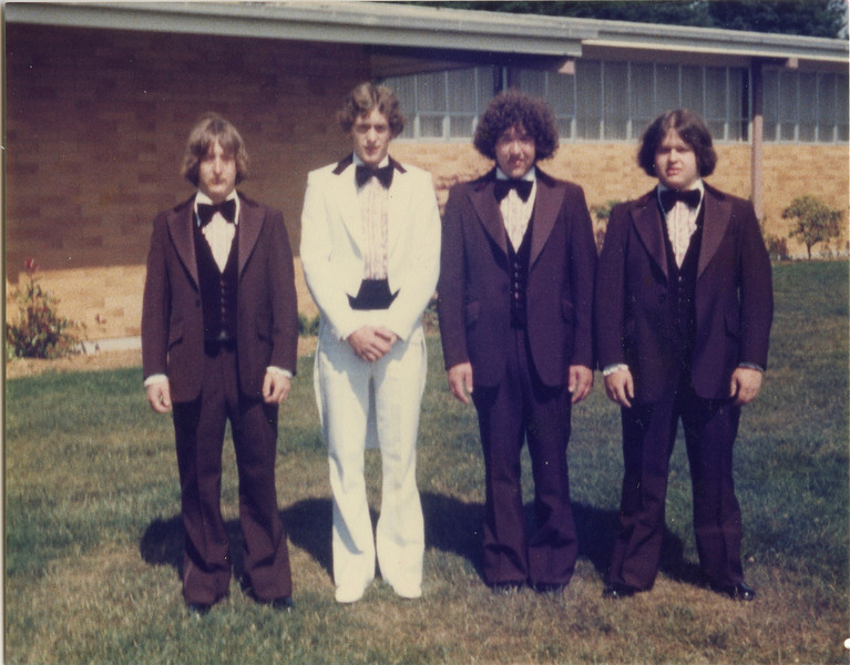 Larrys wedding, Larry, Ron, Tom, and Jeff,