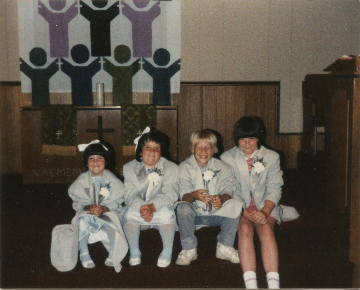 Jenny, Beth, Adam and Angla at Jeff's Wedding Aug 1985.