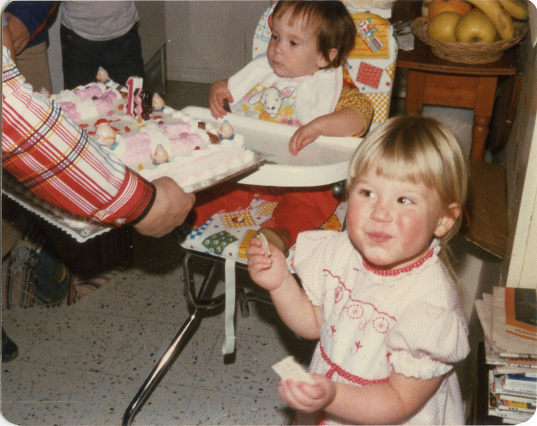 Beths first Birthday, Nov, 5th 1977,