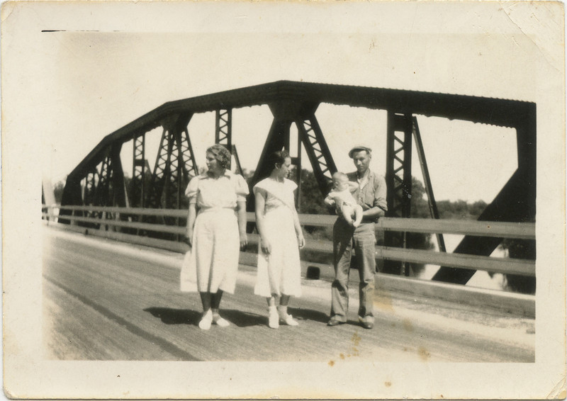 Rose Green, Wilma, George and Beverly on trip in 1937
