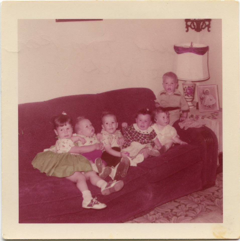 Terry, Tom, Ron, Debbie, Vicki, and George in 955 or 1956.
