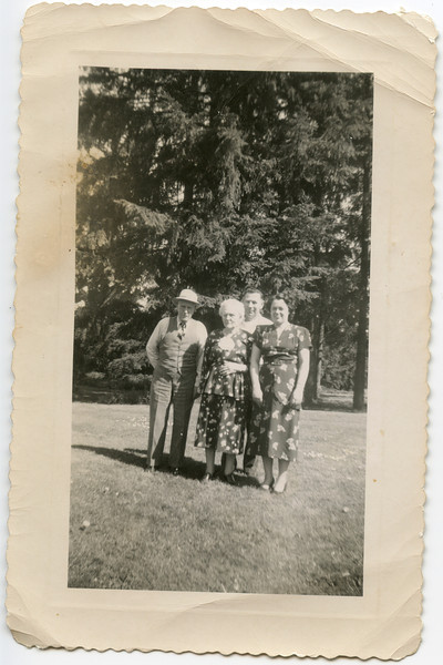 Granpa Pete and Grandma Fronie, George and Wilma VanHorn, 1940's,