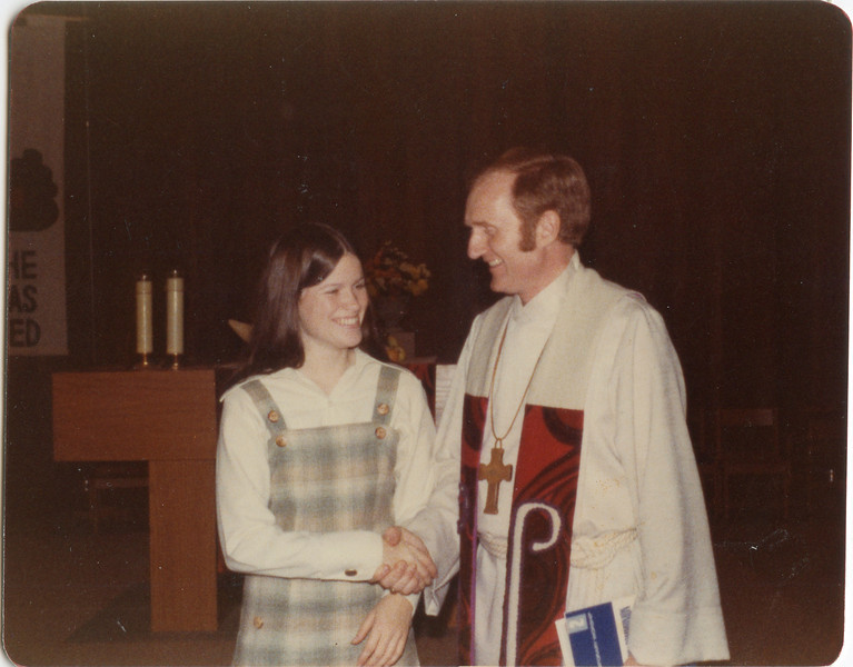 Tracy and Pastor Steve, Alympia Wa, Nov 1976,