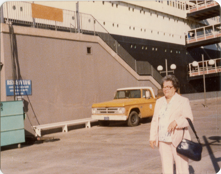 Wilma VanHorn, Queen Mary, Long Beach, Cal. Apr 1979,