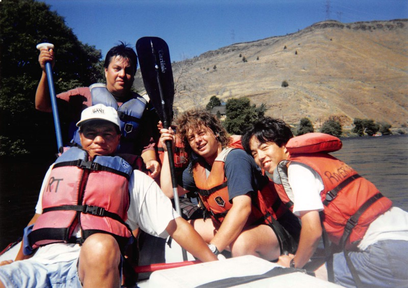 Rafting the Deschuttes, 1995