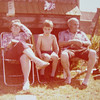 Maggie & George Parker (Visiting from Wales) with brother George <br /> Rippingale 1978